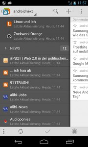 gReader Pro Beta in Komination mit tt-rss